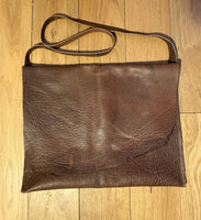 buffalo leather bag-chocolate-large