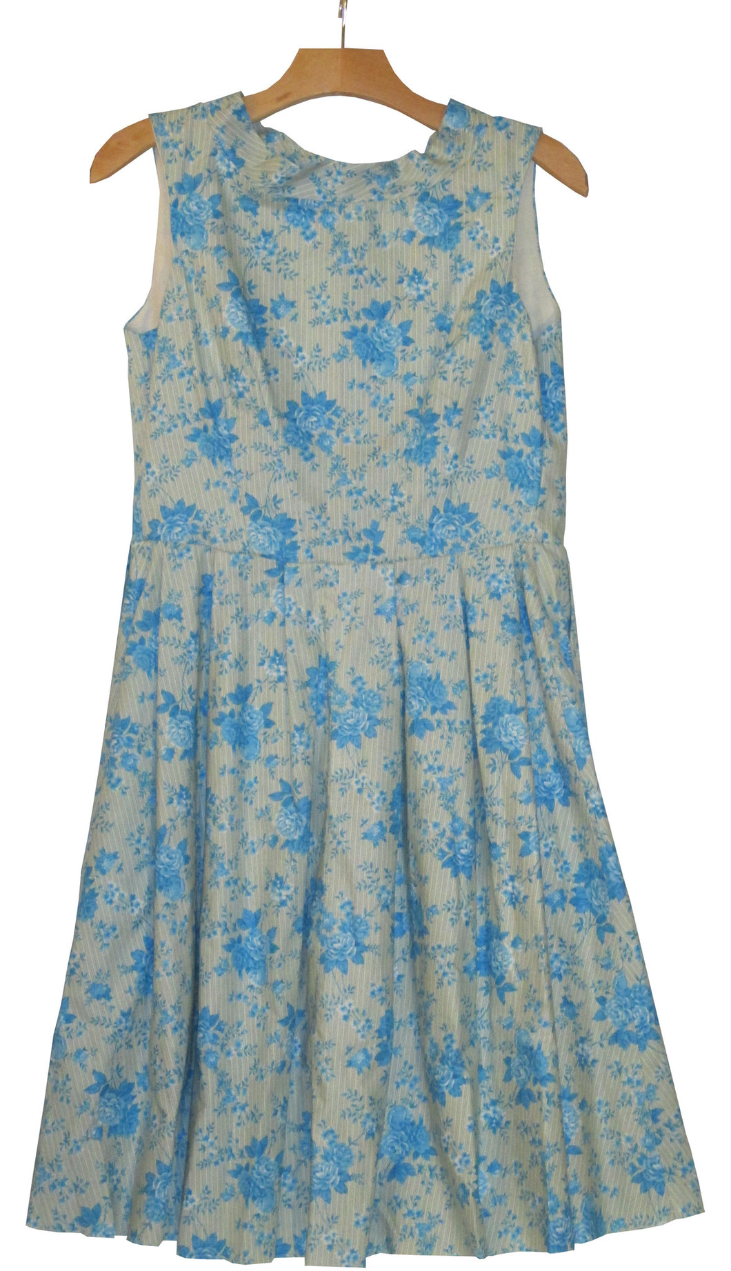 blue flower dress