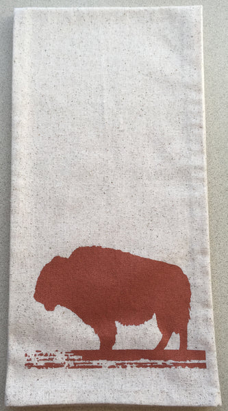 Buffalo dish towels Bronze