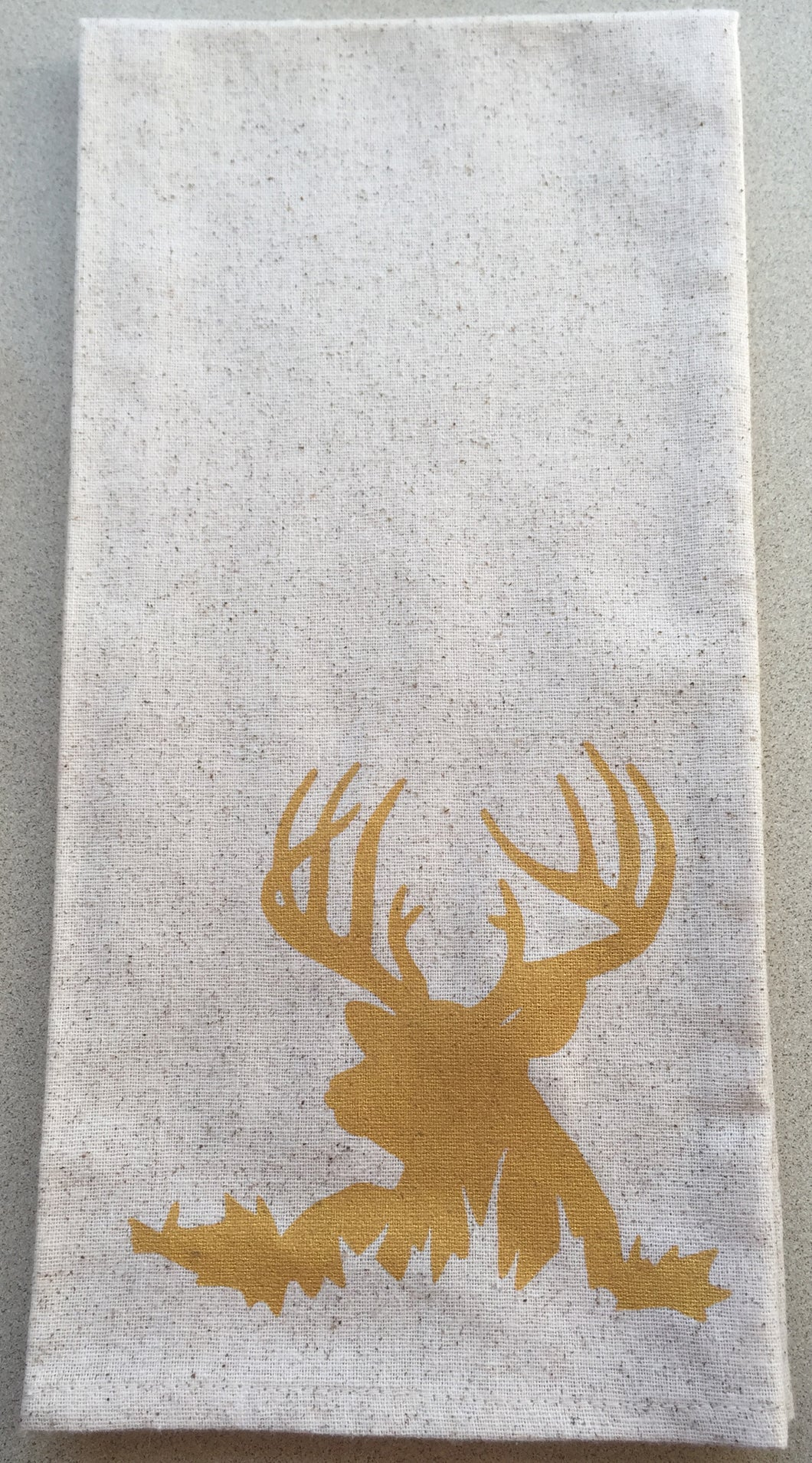Deer dish towels Gold