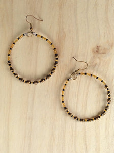 Gypsy Hoops in Bronze and Amber.