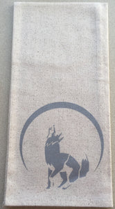 Wolf dish towels Silver