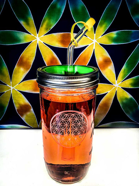 Sacred Etched Glass Drink Vessel