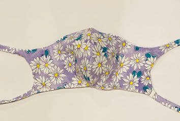 Hand Made Mask-Lavender Daisy Print