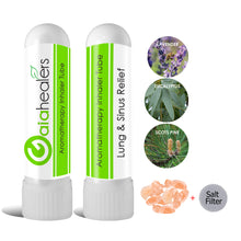 Load image into Gallery viewer, Himalayan Salt Inhaler with Essential Oils - (2 Pack) USDA Organic