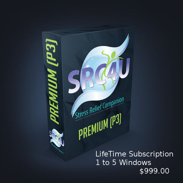Stress Relief Companion SRC4YOU (P4) - Premium The flagship of the SRC4U group of software programs, 1 to 5 windows. - Version 4 - LifeTime Subscription $999.00