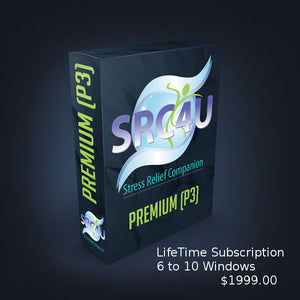 Stress Relief Companion SRC4YOU (P4) - Premium The flagship of the SRC4U group of software programs, 6 to 10 windows. - Version 4 - Lifetime Subscription $1999.00