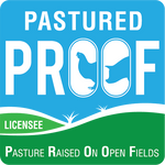 Pasture Raised On Open Fields Accreditation Logo