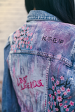 "Lost Legends. x VonLennox Jeansjacke ""Cherry Blossom"""