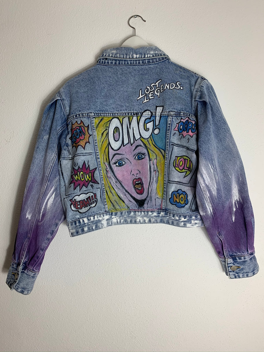 "Lost Legends. x VonLennox Jeansjacke ""Pop-Art 80's"""