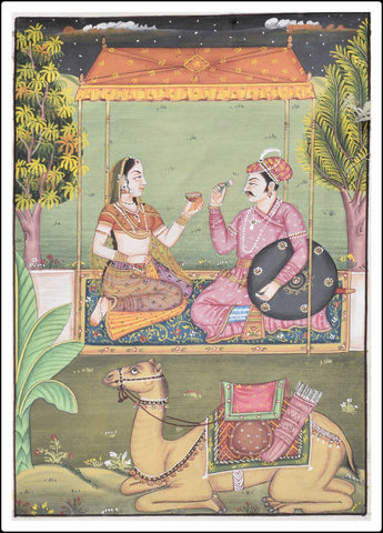 Famous lovers of Rajasthan Dhola- Maru Painting
