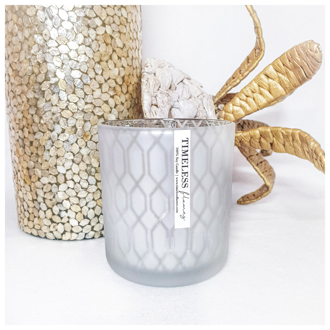 Large Vogue Silver Candle Jar