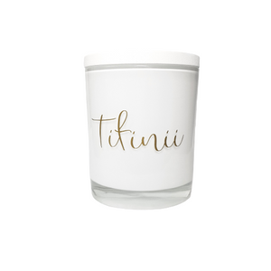 Special Occasion - White Personalised Candle with White Wooden Lid