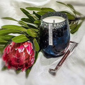 Vintage Black Marble Candle Collection