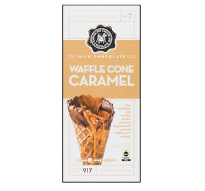 C3 3.5 oz. CHOCOLATE BAR - MILK WAFFLE CONE CARAMEL - Sweets and Geeks