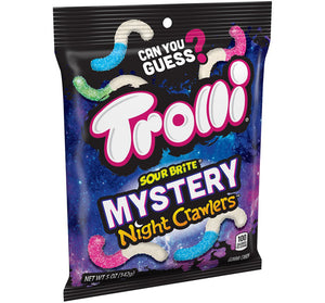 TROLLI SOUR BRITE MYSTERY NIGHT CRAWLERS PEG BAG - Sweets and Geeks