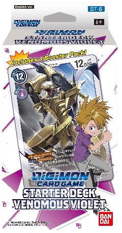 Digimon TCG: Starter Deck Display - Venomous Violet (Preorder) - Sweets and Geeks