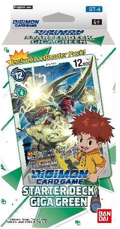 Digimon TCG: Starter Deck Display - Giga Green (Preorder) - Sweets and Geeks