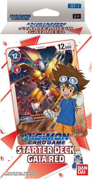 Digimon TCG: Starter Deck Display - Gaia Red (Preorder) - Sweets and Geeks