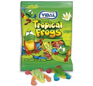 VIDAL GUMMI TROPICAL FROGS PEG BAGS - Sweets and Geeks
