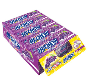 HI-CHEW STICK CHEWY FRUIT CANDY - GRAPE - 1.76 oz - Sweets and Geeks