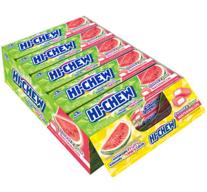 HI-CHEW STICK CHEWY FRUIT CANDY - WATERMELON - 1.76 oz - Sweets and Geeks