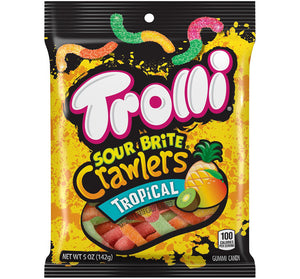 TROLLI TROPICAL SOUR BRITE CRAWLERS PEG BAG - Sweets and Geeks