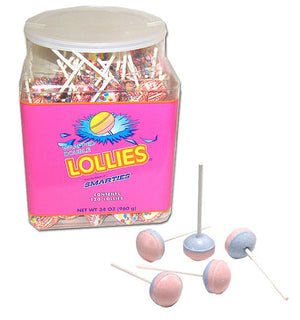 Smarties Lollies Original (In Tub) - Sweets and Geeks