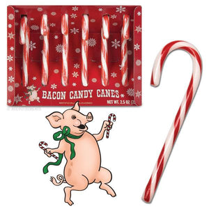 BACON CANDY CANES - Set of 6 - Sweets and Geeks