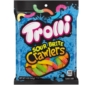 TROLLI SOUR BRITE CRAWLERS PEG BAG - Sweets and Geeks