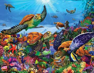 Amazing Sea Turtle  - 300 Piece Jigsaw Puzzle - Sweets and Geeks