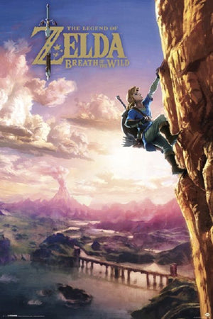 Zelda Breath of the Wild - Climbing Poster - Sweets and Geeks