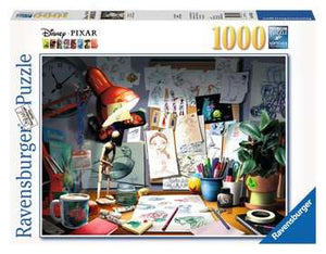 "Ravensburger Disney Pixar ""The Artist's Desk"" 1000 pc Puzzle - Sweets and Geeks"