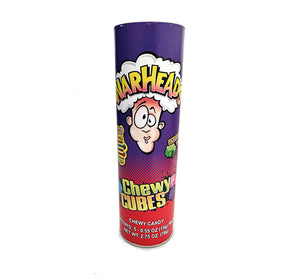"Warheads Chewy Cubes 9"" Tube - Sweets and Geeks"