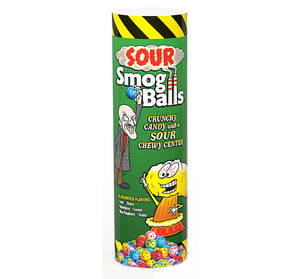 "Sour Smog Balls 9"" Tubes - Sweets and Geeks"