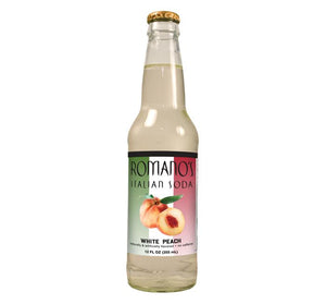 Romano's White Peach Italian Soda - Sweets and Geeks