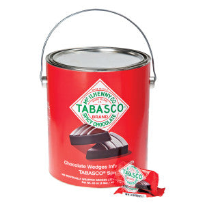 TABASCO SPICY DARK CHOCOLATE WEDGES - Sweets and Geeks