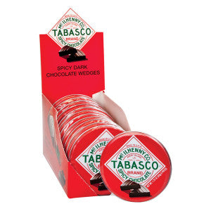 TABASCO SPICY DARK CHOCOLATE WEDGES 1.75 OZ TIN - Sweets and Geeks