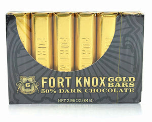 Fort Knox Mini Gold Dark Chocolate Bars (6 Pack) 2.96 OZ - Sweets and Geeks