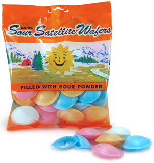 SATELLITE WAFERS 1 oz. SOUR PEG BAG - Sweets and Geeks
