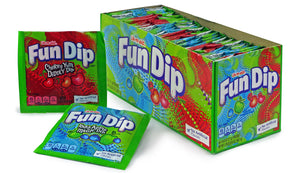 LIK-M-AID FUN DIP - SINGLE FLAVORS (CHERRY YUM/RAZZ APPLE) - Sweets and Geeks