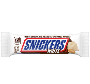 Snickers White 1.41 OZ Candy Bar - Sweets and Geeks