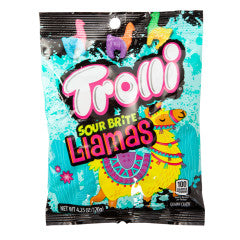 TROLLI SOUR BRITE LLAMAS 4.25 OZ PEG BAG - Sweets and Geeks