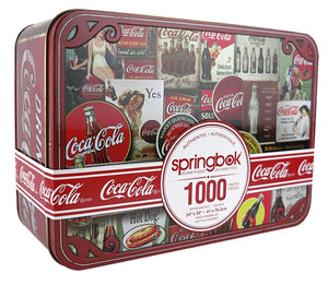 Springbok: Coca-Cola Tin Signs 1000pc - Sweets and Geeks