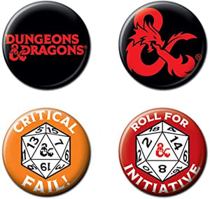 Dungeons & Dragons Buttons - Sweets and Geeks