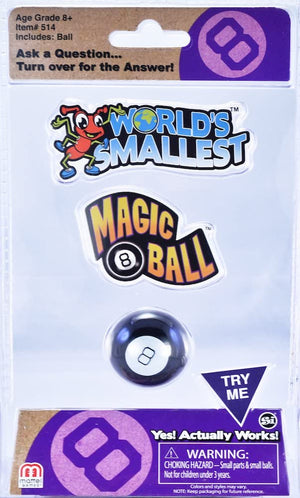 World's Smallest Magic 8 Ball - Sweets and Geeks