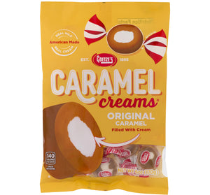 GOETZE CARAMEL CREAMS PEG BAG 6 oz - Sweets and Geeks