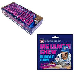 BIG LEAGUE CHEW BLUE RASPBERRY PEG BAG 2.12 OZ - Sweets and Geeks