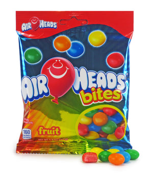 AIRHEADS BITES PEG BAG - FRUIT - Sweets and Geeks