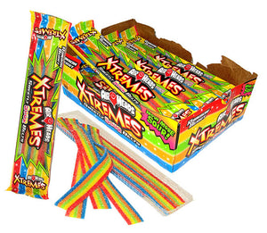 AIRHEADS XTREMES SOUR BELTS  RAINBOW BERRY - Sweets and Geeks